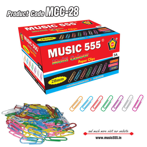 28mm-Multi-Colour-Paper-U-Clip-music555-manufacturing-mumbai