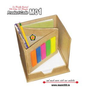 M01-Eco-Friendly-Pen-Stand-Cube-Sticky-Note-Pad-Front-music555-manufacturing-mumbai