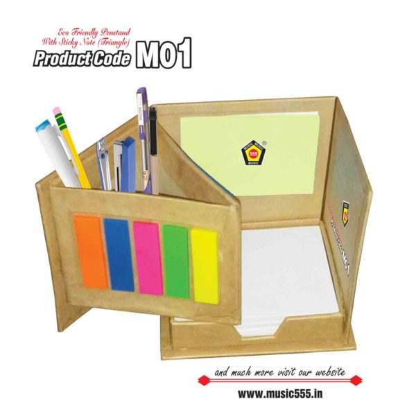 M01-Pen-Stand-Eco-Friendly-Sticky-Note-Pad-music555-manufacturing-mumbai