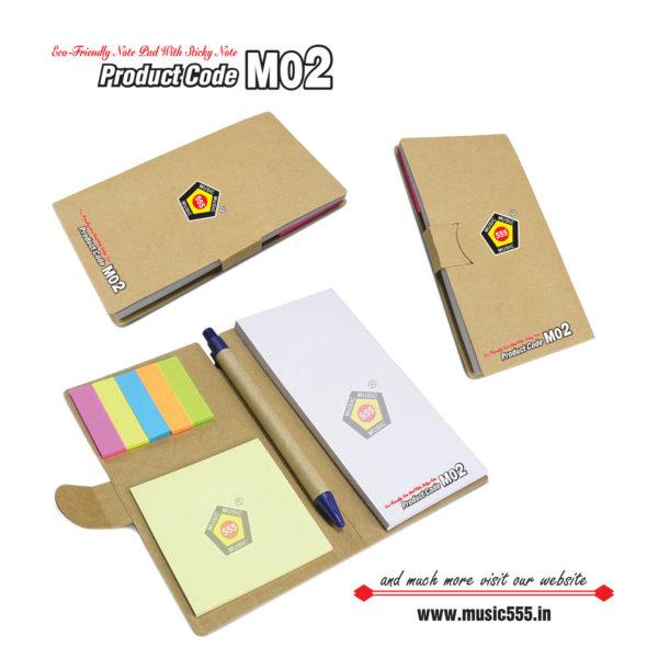 M02-Eco-Friendly-Sticky-Note-Pad-music555-manufacturing-mumbai
