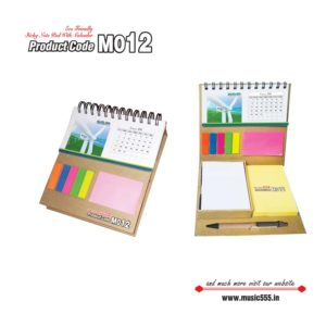 M012-Eco-Friendly-Sticky-Note-Pad-Wiro-Desk-Calendar-pen-music555-manufacturing-mumbai