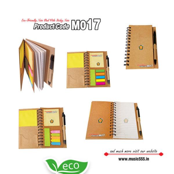 M017-Eco-Friendly-wiro-Dairy-Sticky-Note-Pad-music555-manufacturing-mumbai
