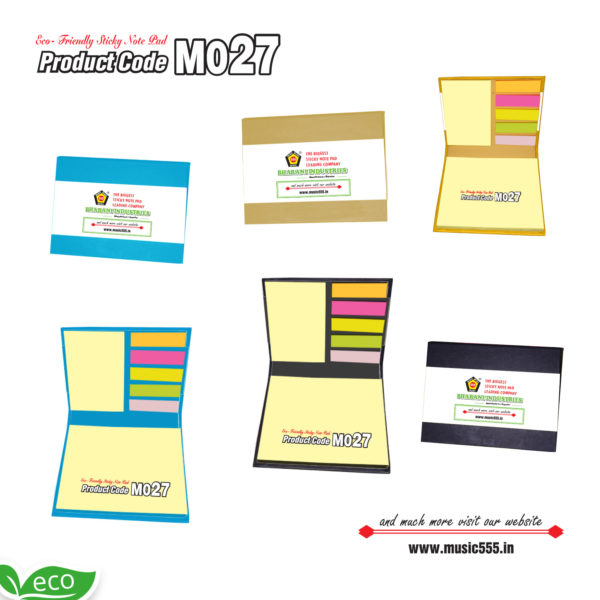 M027-Eco-Friendly-Color-Sticky-Note-Pad-music555-manufacturing-mumbai
