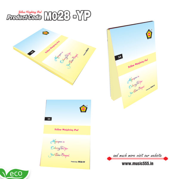 M028-YP-Eco-Friendly-Multi-Color-Sticky-Note-Pad-music555-manufacturing-mumbai