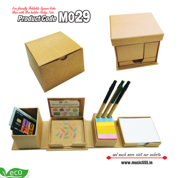 M029-Eco-Friendly-Foldable-Cube-Sticky-Note-Pad-music555-manufacturing-mumbai