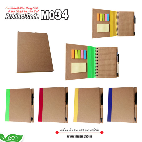 M034-Eco-Friendly-Wiro-Sticky-Note-Pad-music555-manufacturing-mumbai