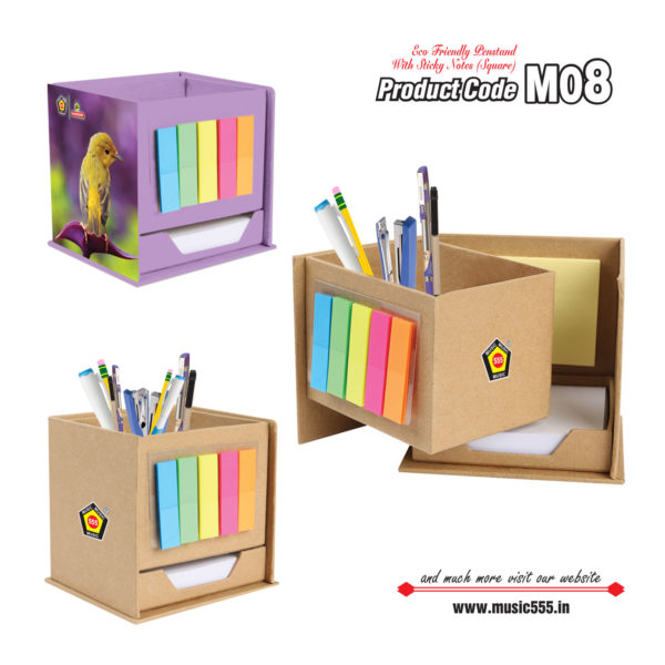 M08-Pen-Stand-Eco-Friendly-Sticky-Note-Pad-music555-manufacturing-mumbai