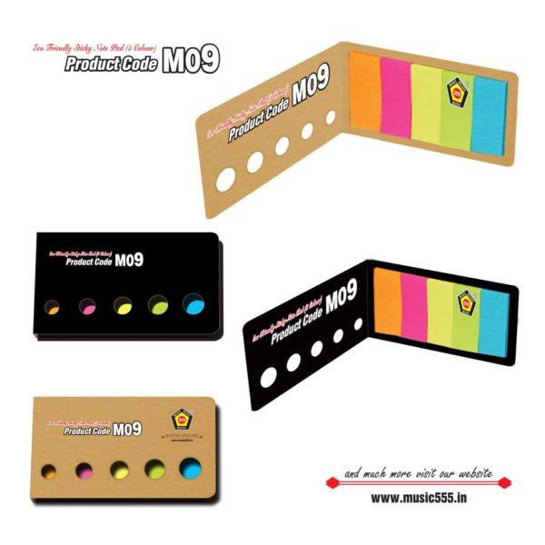 M09-Eco-Friendly-Sticky-Note-Pad-music555-manufacturing-mumbai