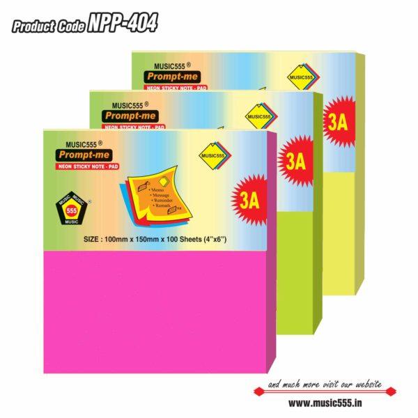 4×4-Neon-Sticky-Note-Pad-Bharani-Industriesr-music555-manufacturing-mumbai