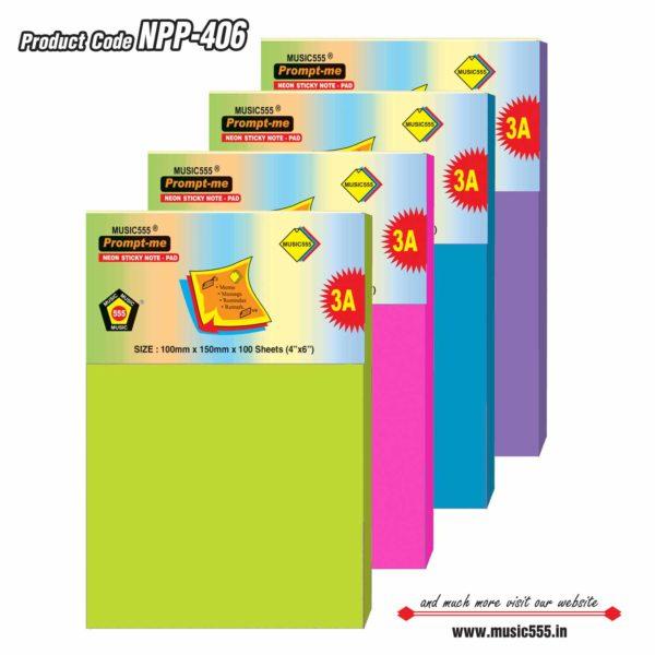 4×6-Neon-Sticky-Note-Pad-Bharani-Industriesr-music555-manufacturing-mumbai