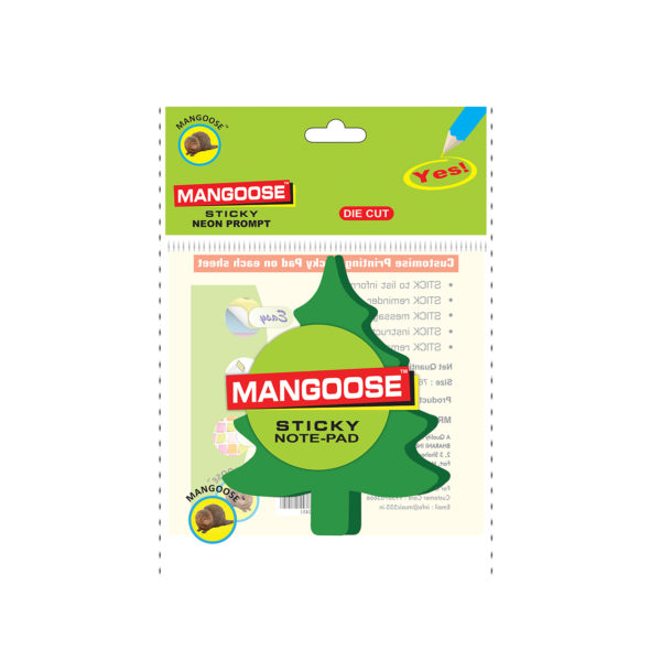 Christmas-tree-Shape-Die-cut-Sticky-Note-Pad-Front-music555-manufacturing-mumbai