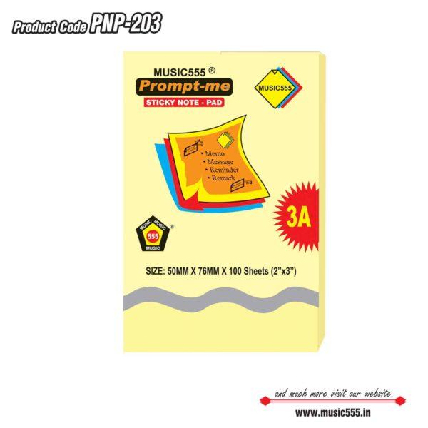 2×3-Prompt-Me-Sticky-Note-Pad-Bharani-Industriesr-music555-manufacturing-mumbai