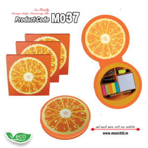 M037-Eco-Friendly-Orange-Shape-Stationery-Kit-music555-manufacturing-mumbai