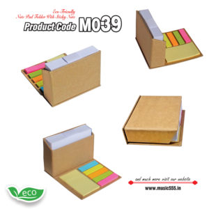 M039 Eco-Friendly-Sticky-Note-Pad-Folder-music555-manufacturing-mumbai