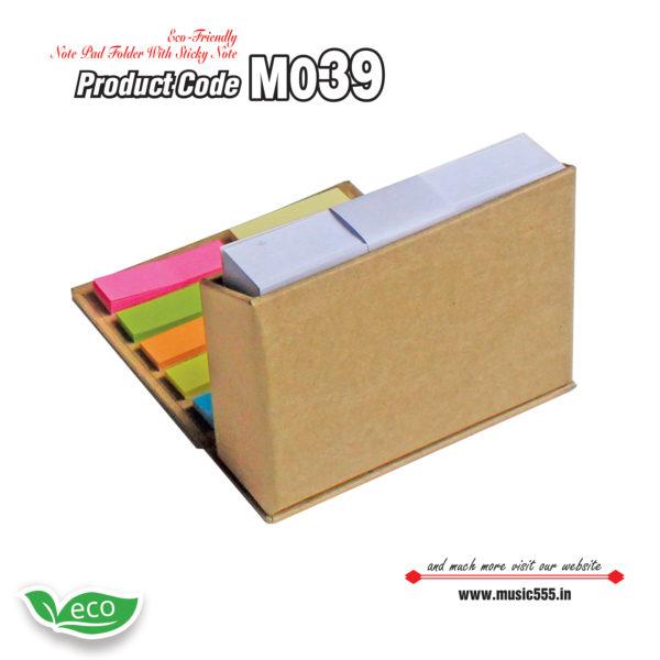 M039 Eco-Friendly-Sticky-Note-Pad-Folder1-music555-manufacturing-mumbai