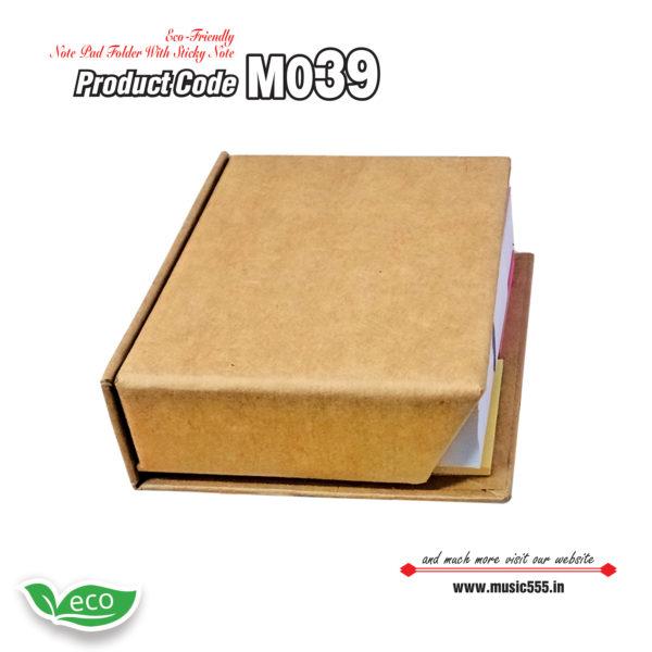 M039 Eco-Friendly-Sticky-Note-Pad-Folder2-music555-manufacturing-mumbai