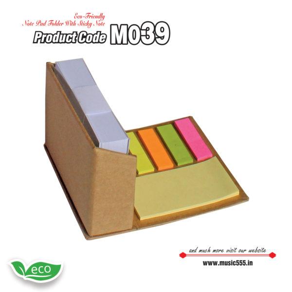 M039 Eco-Friendly-Sticky-Note-Pad-Folder3-music555-manufacturing-mumbai