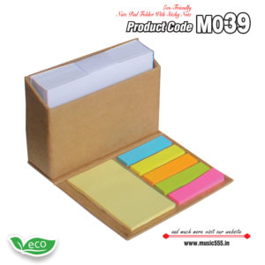 M039 Eco-Friendly-Sticky-Note-Pad-Folder4-music555-manufacturing-mumbai