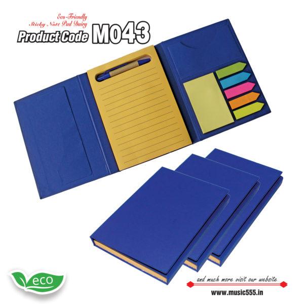 M043-Eco-Friendly-Sticky-Note-pad-Dairy-music555-manufacturing-mumbai