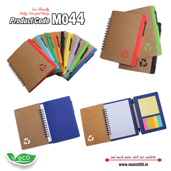 M044-Eco-Friendly-Sticky-Note-pad-Dairy-music555-manufacturing-mumbai1
