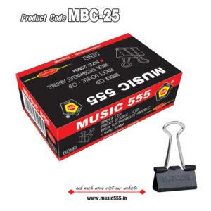 25mm-12pcs-Binder-Clip-music555-manufacturing-mumbai