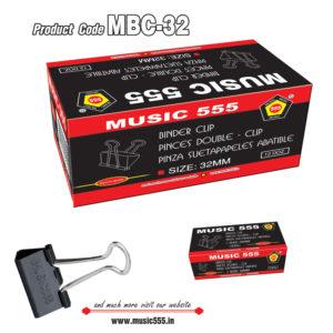 32mm-12Doz-Binder-Clip-music555-manufacturing-mumbai