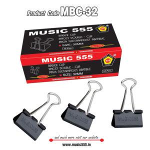 32mm-12pcs-Binder-Clip-music555-manufacturing-mumbai