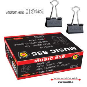 51mm-12pcs-Binder-Clip-music555-manufacturing-mumbai