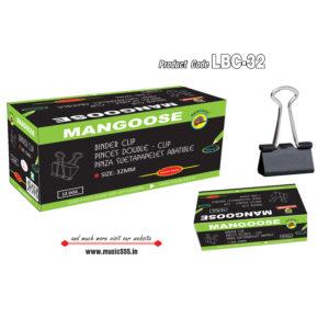 Mangoose-32mm144-Binder-Clip-music555-manufacturing