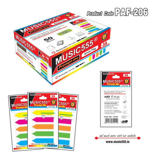 Arrow-Plastic-Flag-50pcs-music555-manufacturing-mumbai-India