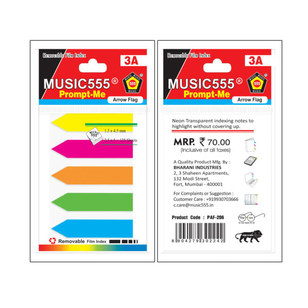 Arrow-Plastic-Flag-music555-manufacturing-mumbai-India