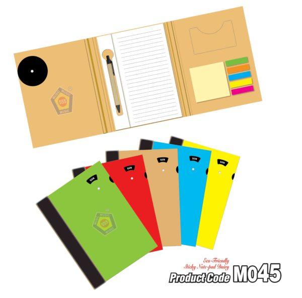 M045 Eco-Friendly Sticky Note-pad Dairy 1 Jan 2018