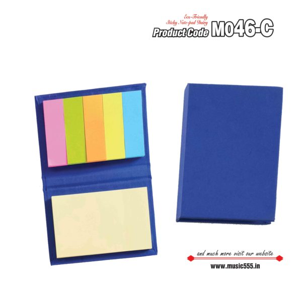 M046-C Dark-Blue Eco-Friendly Sticky Note Kishan