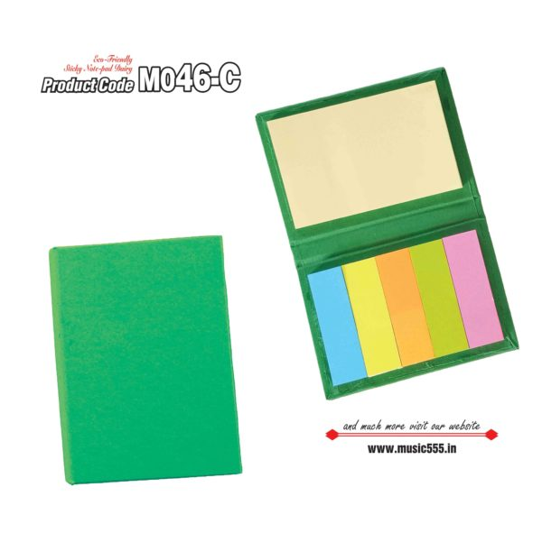M046-C Green Eco-Friendly Sticky Note Kishan
