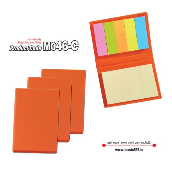 M046-C Orange Eco-Friendly Sticky Note Kishan